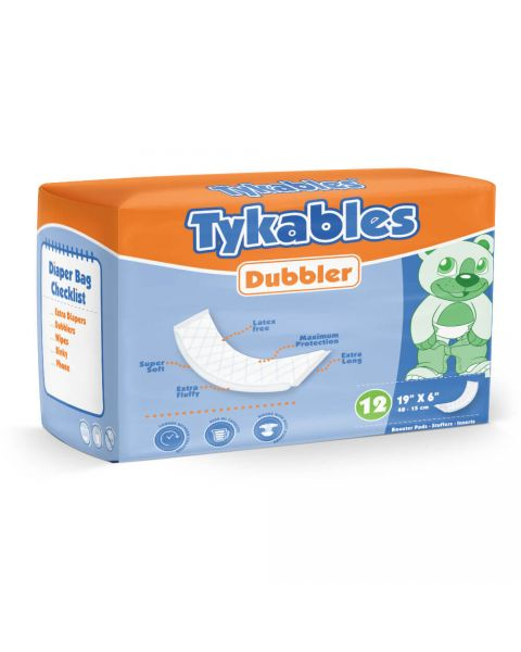 Tykables Dubbler Booster Pads - Pack of 12